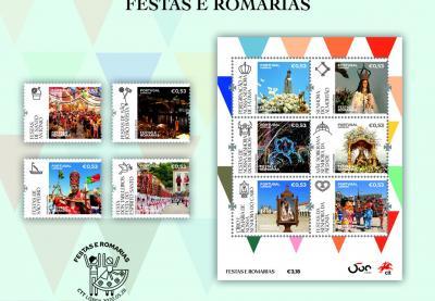 CTT apresentam livro e selos sobre festas e romarias em Portugal