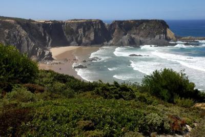 Passeio pelo litoral da Costa Vicentina a sul da Praia do Carvalhal